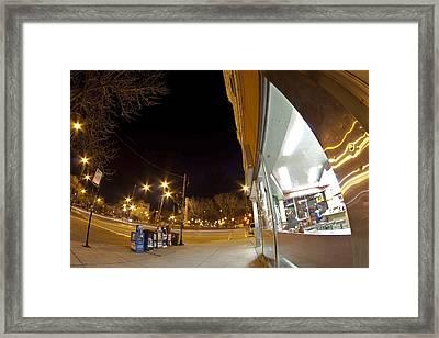 My Verison Of The Rockwell Diner Scene Framed Print by Sven Brogren