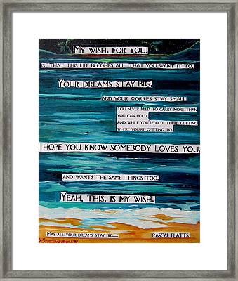My Wish Framed Print by Patti Schermerhorn