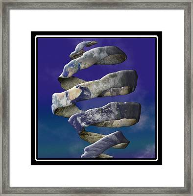 My World Is Unraveling Framed Print by Gravityx9  Designs