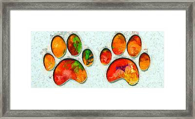 My Cat Paw Framed Print by Stefano Senise