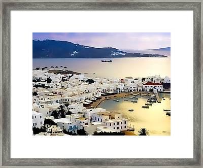 Mykonos Greece Framed Print by Dean Wittle