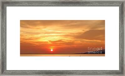 Mykonos Sunset Framed Print by Madeline Ellis