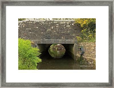 Mylor Bridge In Springtime Framed Print by Terri Waters