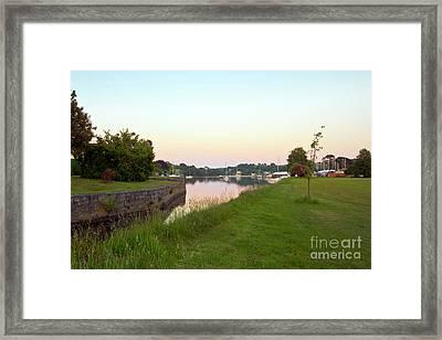 Mylor Bridge Sunset Framed Print by Terri Waters