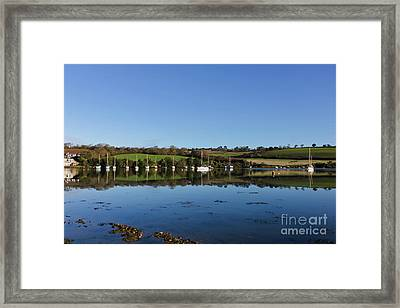 Mylor Creek Fields Framed Print by Terri Waters