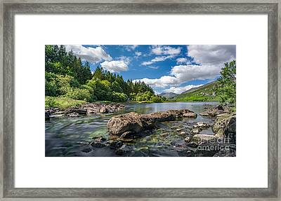 Mymbyr Lakes Framed Print by Adrian Evans