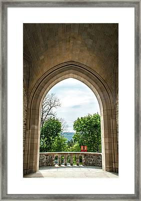 Myron Taylor Hall Archway Framed Print by Optical Playground By MP Ray