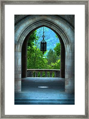 Myron Taylor Hall, Law School Of Cornell University Framed Print by Optical Playground By MP Ray