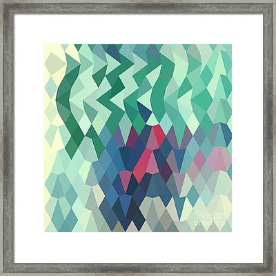 Myrtle Green Abstract Low Polygon Background Framed Print by Aloysius Patrimonio
