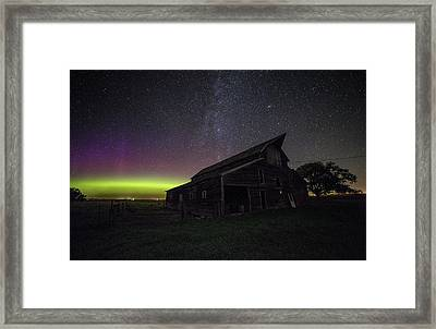 Mysterious Lights Framed Print by Aaron J Groen