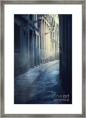 Mysterious Street Framed Print by Svetlana Sewell