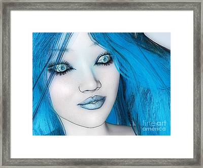 Mysteriously Blue Framed Print by Methune Hively