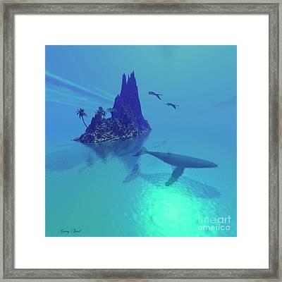 Mystery Island Framed Print by Corey Ford