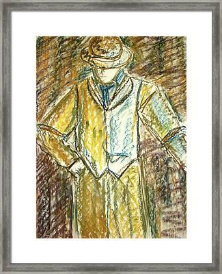 Mystery Man Framed Print by Cathie Richardson