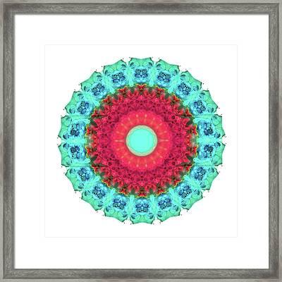 Mystic Circle Mandala - Sharon Cummings  Framed Print by Sharon Cummings