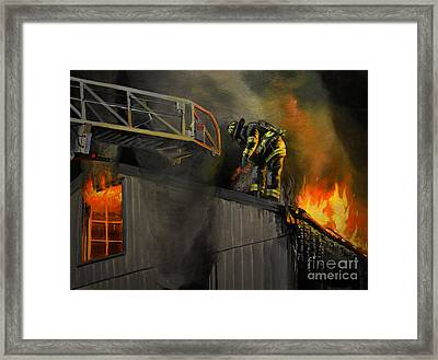 Mystic Fire Framed Print by Paul Walsh