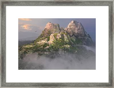 Mystic Mountain Framed Print by Mary Almond