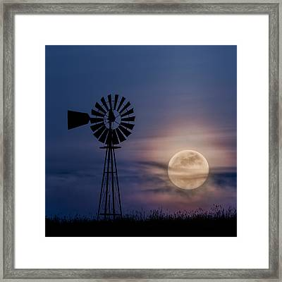 Mystical Moon Square Framed Print by Bill Wakeley