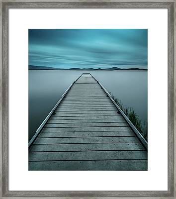 Mystical Pier Framed Print by Larry Marshall