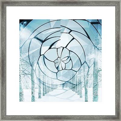 Mystical Tree Road Framed Print by Contemporary Art