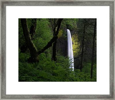 Mystical Waterfall Framed Print by Larry Marshall