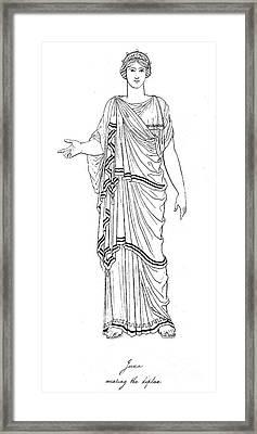 Mythology: Hera/juno Framed Print by Granger