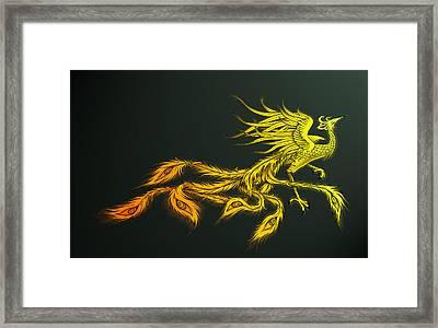 Myths Ablaze Framed Print by Simon Sturge