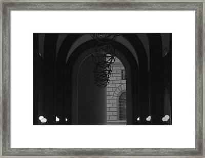 N Y C Lighted Arch Framed Print by Rob Hans