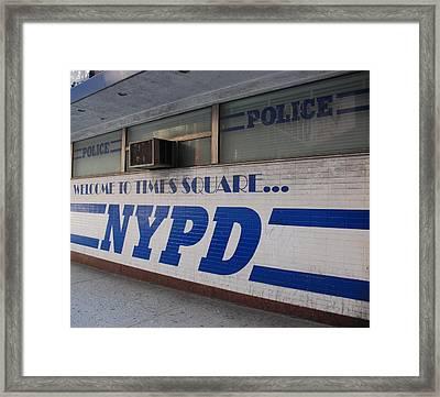 N Y P D Blue Framed Print by Rob Hans