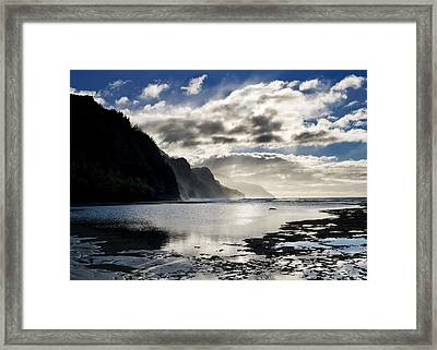 Na Pali Coast Kauai Hawaii Framed Print by Brendan Reals