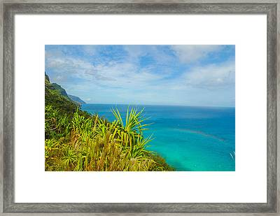 Na Pali Rainbow Framed Print by Megan Martens