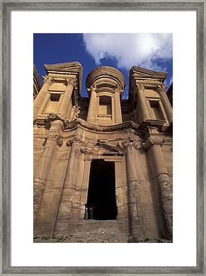 Nabataean Traders Stand In The Doorway Framed Print by Richard Nowitz