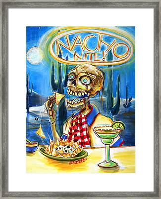 Nacho Nite Framed Print by Heather Calderon