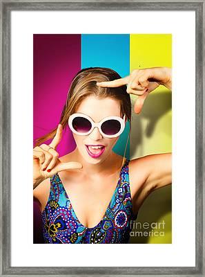 Nail Polish Pin-up Girls Framed Print by Jorgo Photography - Wall Art Gallery