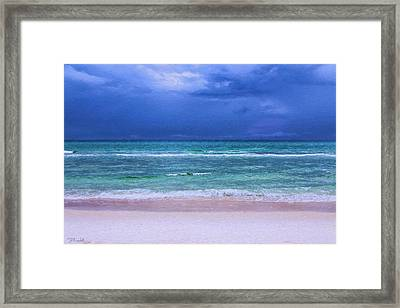 Naked Beach Framed Print by Theresa Campbell
