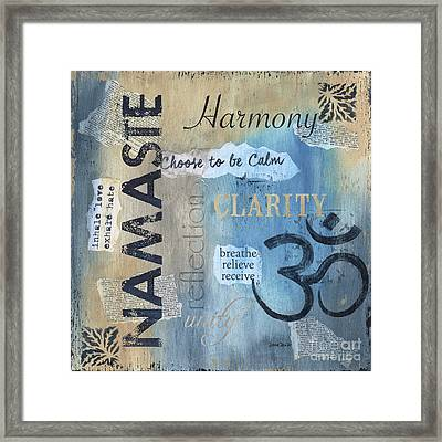 Namaste Framed Print by Debbie DeWitt