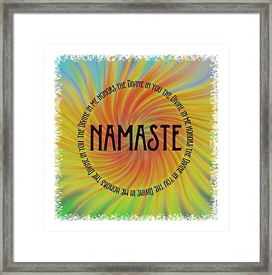 Namaste Divine And Honor Swirl Framed Print by Terry DeLuco
