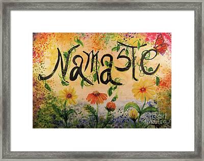 Namaste Framed Print by Sandra Gallegos