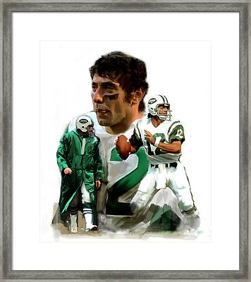 Namath  Joe Namath Framed Print by Iconic Images Art Gallery David Pucciarelli