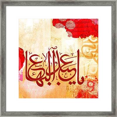 Name Of 'abdu'l-baha Framed Print by Misha Maynerick