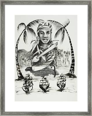 Nanny Of The Maroons Framed Print by Ikahl Beckford