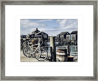 Nantucket Bikes 1 Framed Print by Tammy Wetzel