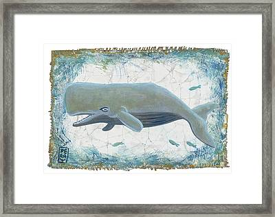 Nantucket Whale Framed Print by Danielle Perry