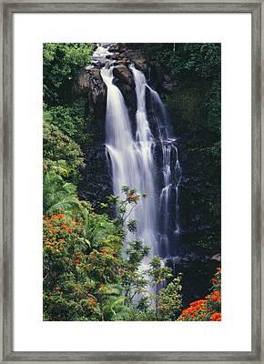 Nanue Falls Framed Print by Ray Mains - Printscapes
