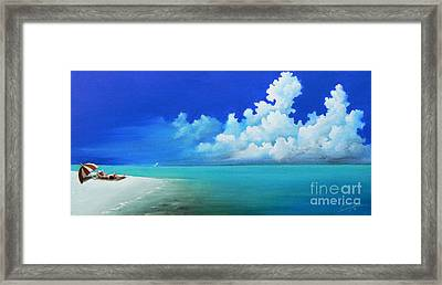 Nap On The Beach Framed Print by Susi Galloway