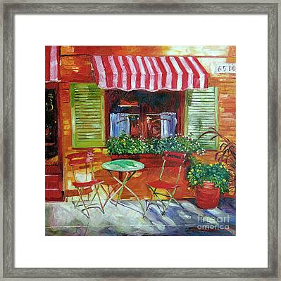 Napa Bistro Framed Print by David Lloyd Glover