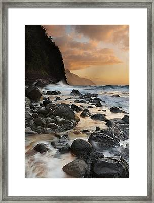 Napali Dreams Framed Print by Sun Gallery Photography Lewis Carlyle