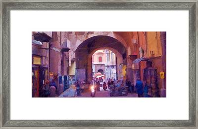 Naples Italy Impression Framed Print by Lutz Baar