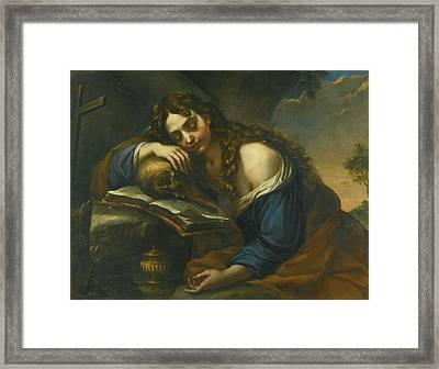Naples Mary Magdalene Sleeping Framed Print by MotionAge Designs