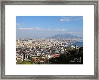 Naples Panoramic View Framed Print by Kiril Stanchev